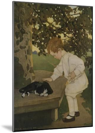 The Senses: Touch-Jessie Willcox-Smith-Mounted Giclee Print