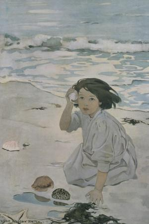 The Senses: Hearing-Jessie Willcox-Smith-Stretched Canvas Print