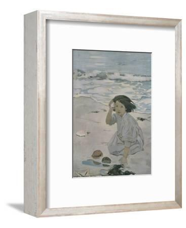 The Senses: Hearing-Jessie Willcox-Smith-Framed Premium Giclee Print