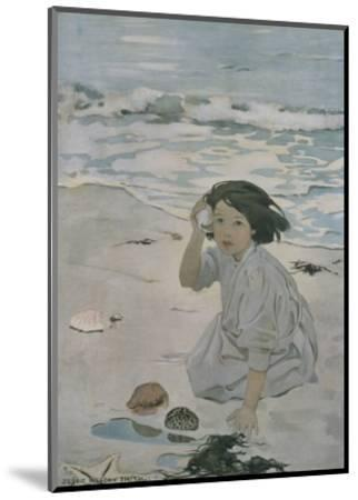 The Senses: Hearing-Jessie Willcox-Smith-Mounted Premium Giclee Print