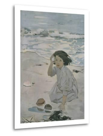 The Senses: Hearing-Jessie Willcox-Smith-Metal Print