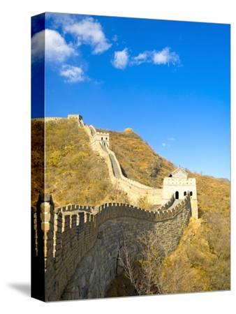 Mutianyu Section of the Great Wall of China-Xiaoyang Liu-Stretched Canvas Print