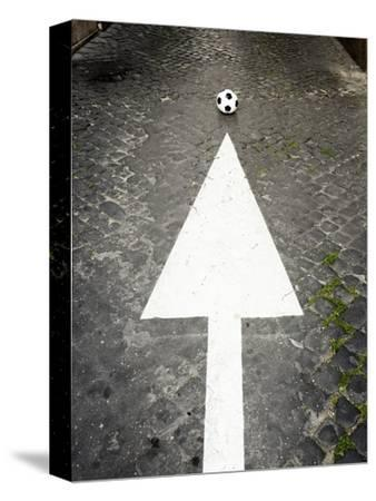 This Way to Soccer-Max Power-Stretched Canvas Print