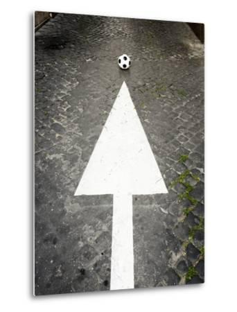 This Way to Soccer-Max Power-Metal Print
