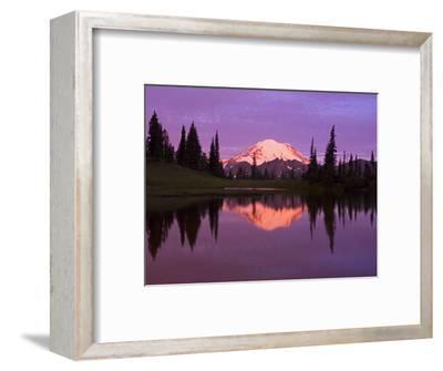 Mount Rainier and Tipsoo Lake-Craig Tuttle-Framed Premium Photographic Print