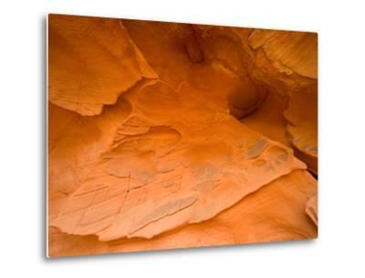 Eroded Sandstone Cliff-John Eastcott & Yva Momatiuk-Metal Print