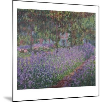 The Artist's Garden At Giverny, c.1900-Claude Monet-Mounted Giclee Print