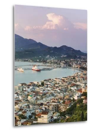 View over Port from the Venetian Kastro-Walter Bibikow-Metal Print