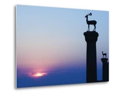 Stag Column-Walter Bibikow-Metal Print