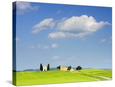 Chapel and Farmhouse on Hill-Frank Lukasseck-Stretched Canvas Print