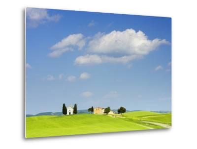 Chapel and Farmhouse on Hill-Frank Lukasseck-Metal Print