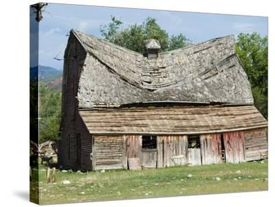Collapsing Barn-Larry Lee-Stretched Canvas Print