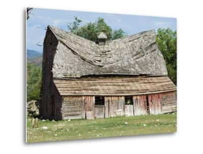 Collapsing Barn-Larry Lee-Metal Print