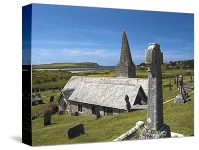 St. Enodoc Church and Cemetery-Nick Lewis-Stretched Canvas Print