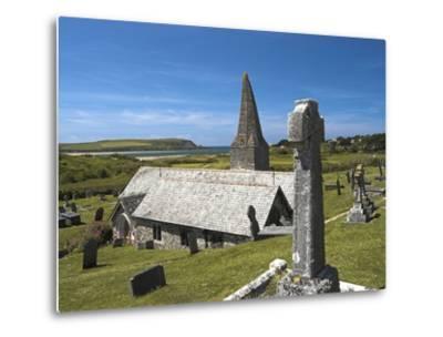 St. Enodoc Church and Cemetery-Nick Lewis-Metal Print