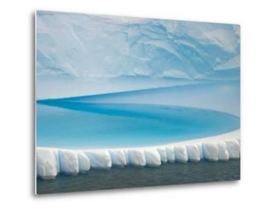 Stranded Iceberg in Shallow Bay Near Boothe Island-John Eastcott & Yva Momatiuk-Metal Print