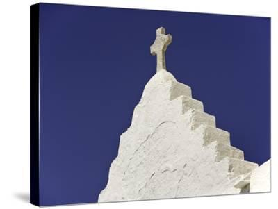 Cross on Top of Gable-Danny Lehman-Stretched Canvas Print