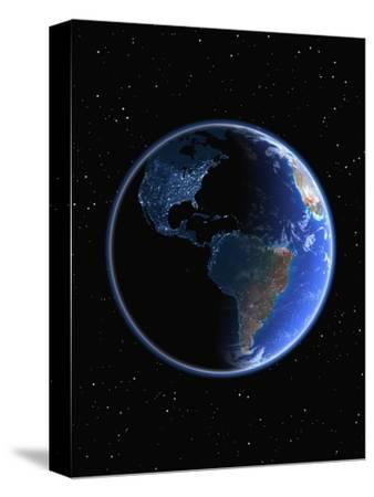 Electric Lights in the Western Hemisphere-Kulka-Stretched Canvas Print