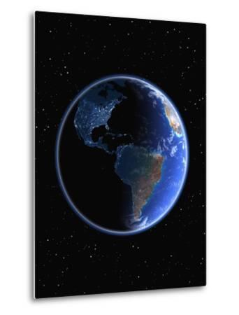 Electric Lights in the Western Hemisphere-Kulka-Metal Print