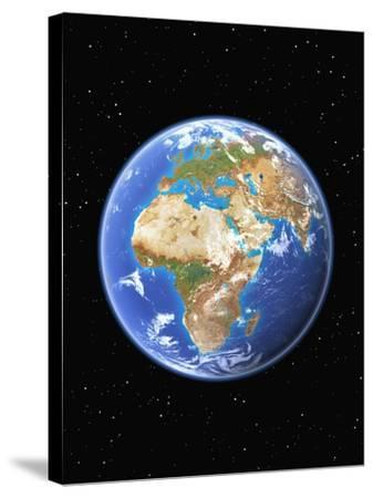 Eastern Hemisphere of Earth-Kulka-Stretched Canvas Print