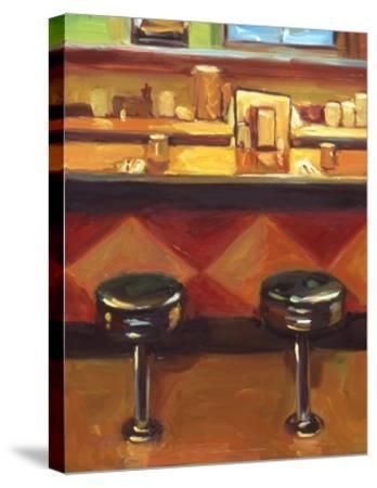 Bar Stools-Pam Ingalls-Stretched Canvas Print