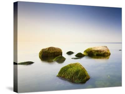 Rocks in Shallow Water of Baltic Sea-Frank Lukasseck-Stretched Canvas Print