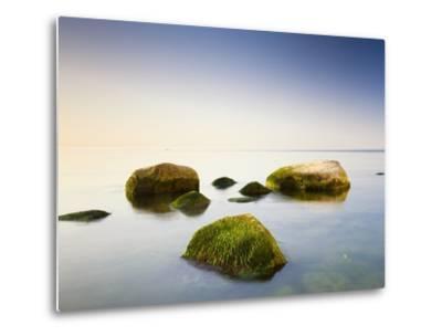 Rocks in Shallow Water of Baltic Sea-Frank Lukasseck-Metal Print