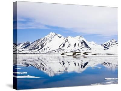 Snow-Covered Mountains at Hornsund-Frank Lukasseck-Stretched Canvas Print