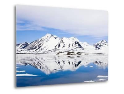 Snow-Covered Mountains at Hornsund-Frank Lukasseck-Metal Print