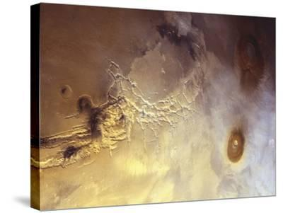 Arcuate Graben System of Noctis Labyrinthus on Mars-Michael Benson-Stretched Canvas Print