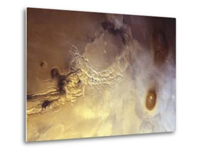 Arcuate Graben System of Noctis Labyrinthus on Mars-Michael Benson-Metal Print