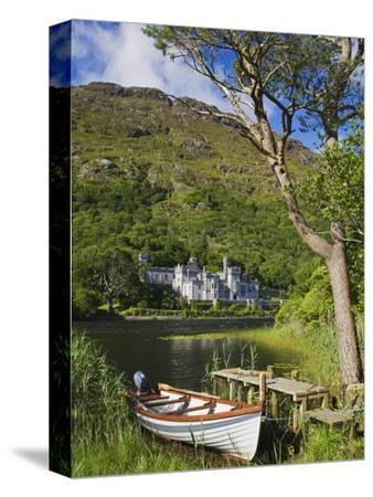 Kylemore Abbey and Kylemore Lough-Richard Cummins-Stretched Canvas Print