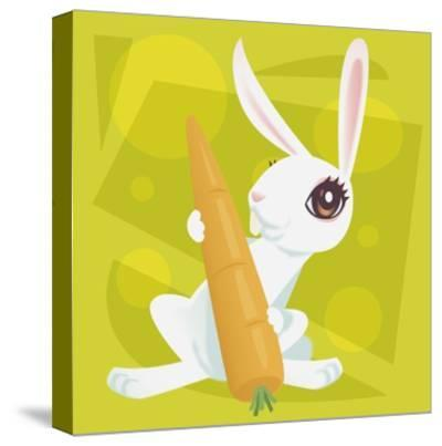 Anime Rabbit-Harry Briggs-Stretched Canvas Print