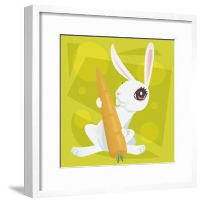 Anime Rabbit-Harry Briggs-Framed Giclee Print