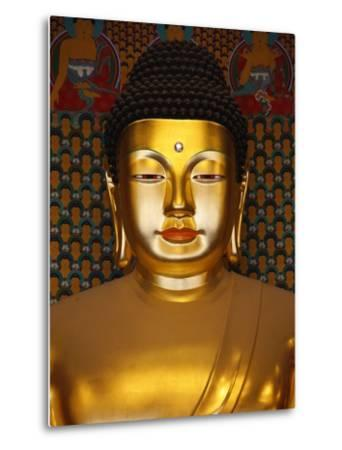 Detail of Sakyamuni Buddha Statue in Main Hall of Jogyesa Temple-Pascal Deloche-Metal Print
