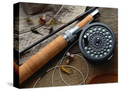 Fishing Reel and Lures-Jim Barber-Stretched Canvas Print