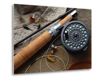 Fishing Reel and Lures-Jim Barber-Metal Print