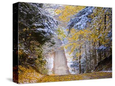 Rural road after snow-Jim Craigmyle-Stretched Canvas Print