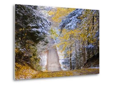 Rural road after snow-Jim Craigmyle-Metal Print