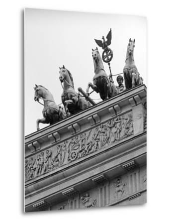 Statues on Top of Brandenburg Gate-Murat Taner-Metal Print