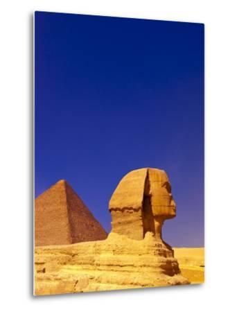 Great Sphinx and Pyramids at Giza-Blaine Harrington-Metal Print