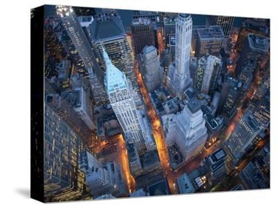 Aerial View of Wall Street-Cameron Davidson-Stretched Canvas Print