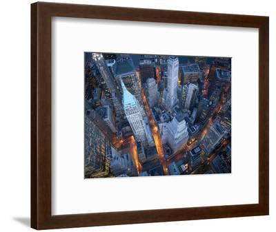 Aerial View of Wall Street-Cameron Davidson-Framed Premium Photographic Print