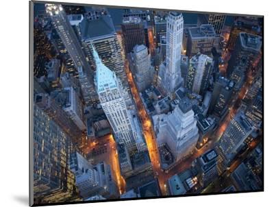 Aerial View of Wall Street-Cameron Davidson-Mounted Premium Photographic Print