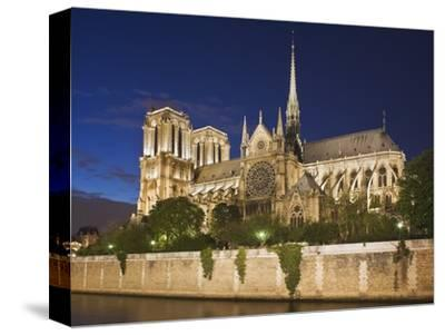 Notre Dame Cathedral at twilight-Peet Simard-Stretched Canvas Print