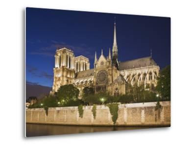 Notre Dame Cathedral at twilight-Peet Simard-Metal Print