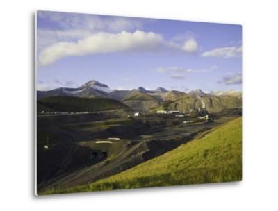 Cardinal River Coal Mine in the Canadian Rocky Mountains-John Eastcott & Yva Momatiuk-Metal Print