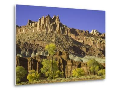 Castle and Fluted Wall Formations in Capitol Reef National Park-John Eastcott & Yva Momatiuk-Metal Print