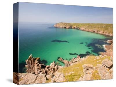 Cornish coastal scenery-Ashley Cooper-Stretched Canvas Print