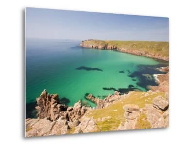 Cornish coastal scenery-Ashley Cooper-Metal Print